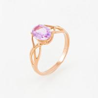 Золотое кольцо с аметистами ЮПК1343573ам