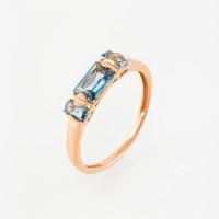 Золотое кольцо с топазами ЮПК1046059тл