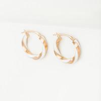 Золотые серьги конго с эмалью РЦТ71082-1