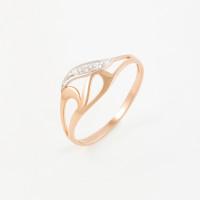 Золотое кольцо с фианитами 2БКЗ5К.1-01-1007-01