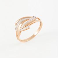 Золотое кольцо с фианитами 2БКЗ5К.1-01-1217-01