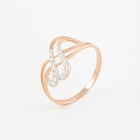 Золотое кольцо с фианитами 2БКЗ5К.1-01-1167-01