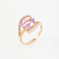 Золотое кольцо с аметистами и фианитами 2БКЗ5К.1-12-0451-02