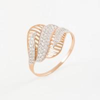 Золотое кольцо с фианитами 2БКЗ5К-01-0283-01
