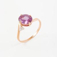 Золотое кольцо с ситаллами александритами и фианитами 2БКЗ5К.1-15-1152-02