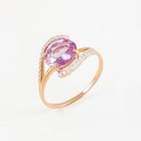 Золотое кольцо с александритами и фианитами 2БКЗ5К.1-15-0451-04