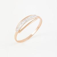 Золотое кольцо с фианитами 2БКЗ5К.1-01-1069-01