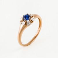 Золотое кольцо с сапфиром гт ЫЗ5-4080-106И5-1К-СапГт