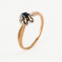 Золотое кольцо с сапфиром и бриллиантами ЫЗ5-3075-106-1К-Сап
