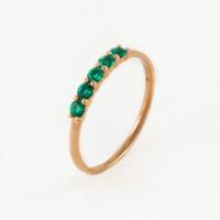 Золотое кольцо с изумрудами гт ЫЗ5-4077-100-1К-ИзГт