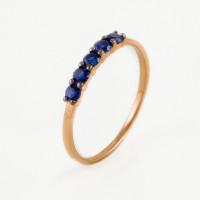 Золотое кольцо с сапфирами гт ЫЗ5-4077-100-1К-СапГт