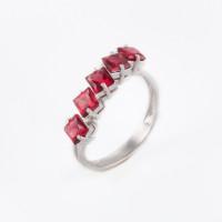 Серебряное кольцо с гранатами ИТ100605-109-0019