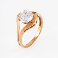 Золотое кольцо с фианитами ЕН20-02-0009-06496