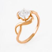 Золотое кольцо с фианитами ЕН20-02-0009-06500