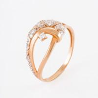 Золотое кольцо с фианитами ЕН20-02-0001-07526