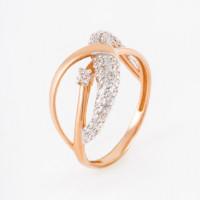 Золотое кольцо с фианитами ЕН20-02-0001-07528