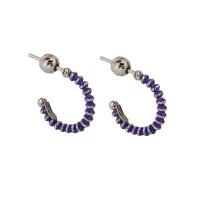 Серебряные серьги гвоздики с эмалью ШШСГ01020ВИ