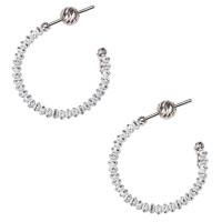 Серебряные серьги гвоздики с эмалью ШШСГ01040БИЛ