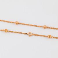 Серебряная цепочка с шариками серебрами ЭФЦ62-355 плетение Сингапур