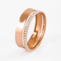 Золотое кольцо обручальное с бриллиантами ЮПК13112153