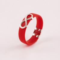 Серебряное кольцо с каучуком