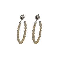 Серебряные серьги гвоздики с эмалью