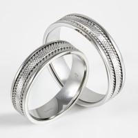Кольцо из белого золота обручальное 7ВВМ5044