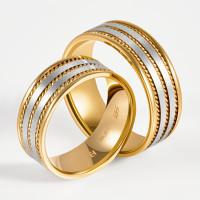 Золотое кольцо обручальное
