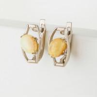 Серебряные серьги с опалами
