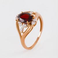 Золотое кольцо с гранатами и фианитами ЮПК1346153гр