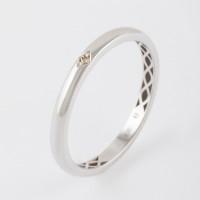 Золотое кольцо обручальное с бриллиантом