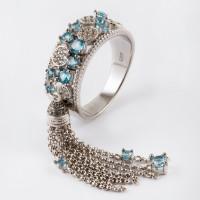 Серебряное кольцо с топазами СЙБУЗР312ТС