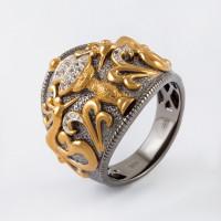 Серебряное кольцо с топазами