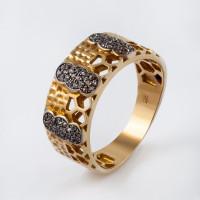 Серебряное кольцо с топазами СЙБУЗР307