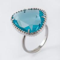 Серебряное кольцо с обсидианами
