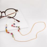 Бижутерная цепочка с ювелирным стеклом и силиконом