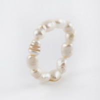 Бижутерное кольцо с жемчугом синтетическим