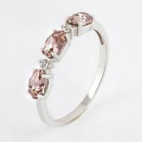 Серебряное кольцо с кристаллами swarovski и фианитами
