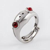 Бижутерное кольцо с ювелирным сплавом и стразами