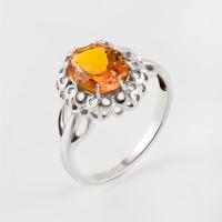 Серебряное кольцо с цитринами синтами
