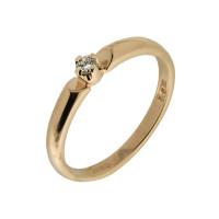 Золотое кольцо с бриллиантом КТЗК-89867