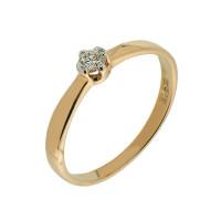 Золотое кольцо с бриллиантом КТЗК-90389