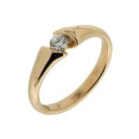 Золотое кольцо с бриллиантом КТЗК-90654 Якутия