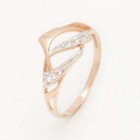 Золотое кольцо с фианитами 2БКЗ5К.1-01-1216-01