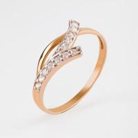 Золотое кольцо с фианитами 2БКЗ5К.1-01-1052-01