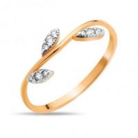 Золотое кольцо с фианитами СН01-114863