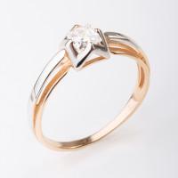 Золотое кольцо с фианитами СН01-114862