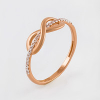 Золотое кольцо с фианитами СН01-114864