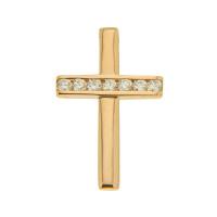 Золотая подвеска с бриллиантами КТЗПД-90586-И