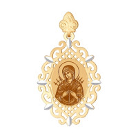 Золотая иконка с эмалью